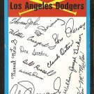Los Angeles Dodgers Blue Team Checklist 1973 Topps Baseball Card marked