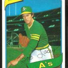 Oakland Athletics Bob Lacey 1980 Topps Baseball Card # 316 em/nm