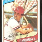 St Louis Cardinals Keith Hernandez 1980 Topps Baseball Card # 321 nr mt