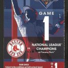 BOSTON RED SOX 2009 WORLD SERIES FULL TICKET