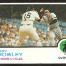BALTIMORE ORIOLES TERRY CROWLEY W/ NEW YORK YANKEES THURMAN MUNSON 1973 TOPPS # 302 NM OC