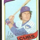 Chicago Cubs Mick Kelleher 1980 Topps Baseball Card # 323 nr mt