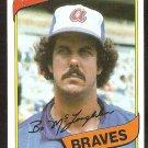 Atlanta Braves Bo McGlaughlin 1980 Topps Baseball Card # 326 nr mt