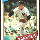 New York Yankees Jim Beattie 1980 Topps Baseball Card # 334 nr mt