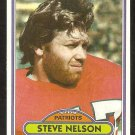 New England Patriots Steve Nelson 1980 Topps Football Card # 452 ex