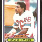 New England Patriots Raymond Clayborn 1980 Topps Football Card # 248 ex/em