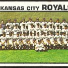 Kansas City Royals Team Card 1973 Topps Baseball Card # 347