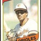 Baltimore Orioles Ken Singleton 1980 Topps Baseball Card # 340 nr mt