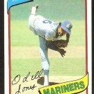 Seattle Mariners Odell Jones 1980 Topps Baseball Card # 342 nr mt