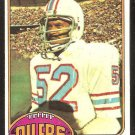 HOUSTON OILERS ROBERT BRAZILE ROOKIE CARD RC 1976 TOPPS # 424 EX MT