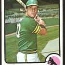 Oakland Athletics Mike Hegan 1973 Topps Baseball Card # 382 nr mt