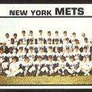 New York Mets Team Card 1973 Topps Baseball Card # 389 nr mt