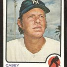 NEW YORK YANKEES CASEY COX 1973 TOPPS # 419 VG