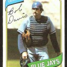 TORONTO BLUE JAYS BOB DAVIS 1980 TOPPS # 351 EM/NM
