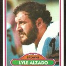 CLEVELAND BROWNS LYLE ALZADO 1980 TOPPS # 220 EX