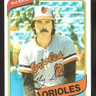 BALTIMORE ORIOLES BILLY SMITH 1980 TOPPS # 367 NR MT