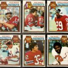 1979 TOPPS NEW ENGLAND PATRIOTS TEAM LOT 11 DIFF HANNAH GROGAN JACKSON +