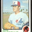 Montreal Expos Ernie McAnally 1973 Topps Baseball Card # 484 nr mt