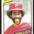 Philadelphia Phillies Garry Maddox 1980 Topps Baseball Card # 380 nr mt