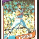 MINNESOTA TWINS DARRELL JACKSON 1980 TOPPS # 386 NR MT