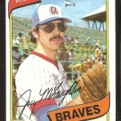 ATLANTA BRAVES JOEY McLAUGHLIN 1980 TOPPS # 384 EX