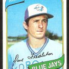 TORONTO BLUE JAYS DAVE FREISLEBEN 1980 TOPPS # 382