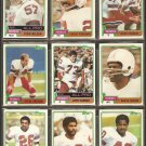1981 Topps New England Patriots Team Lot John Hannah Steve Grogan Harold Jackson Mike Haynes