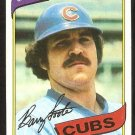 Chicago Cubs Barry Foote 1980 Topps Baseball Card # 398 ex