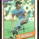 Minnesota Twins Pete Redfern 1980 Topps Baseball Card # 403 nr mt