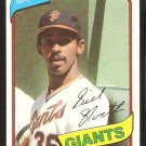 San Francisco Giants Bill North 1980 Topps Baseball Card # 408 nr mt