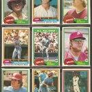 1981 Topps Philadelphia Phillies Team Lot Pete Rose Mike Schmidt Team Card Tug McGraw Steve Carlton