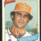 Houston Astros Frank LaCorte 1980 Topps Baseball Card # 411 nr mt