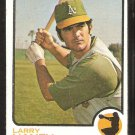Oakland Athletics Larry Haney 1973 Topps Baseball Card # 563 good