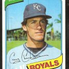 Kansas City Royals Craig Chamberlain 1980 Topps Baseball Card # 417 nr mt