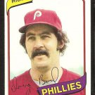 Philadelphia Phillies Doug Bird 1980 Topps Baseball Card # 421 nr mt