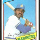 SEATTLE MARINERS LARRY MILBOURNE 1980 TOPPS # 422 EX/EM