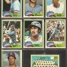 1981 Topps Texas Rangers Team Lot Fergie Jenkins Buddy Bell Al Oliver Rusty Staub Team Card Sundberg