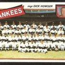 New York Yankees Team Card 1980 Topps Baseball Card #424 ex/em