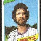 NEW YORK METS PAT ZACHRY 1980 TOPPS # 428 NR MT