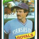 Kansas City Royals Rich Gale 1980 Topps Baseball Card #433 nr mt