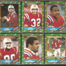 1986 TOPPS NEW ENGLAND PATRIOTS TEAM LOT 10 DIFF CLAYBORN EASON FRYAR +