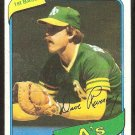 OAKLAND ATHLETICS DAVE REVERING 1980 TOPPS # 438 EM/NM