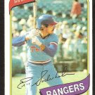 Texas Rangers Eric Soderholm 1980 Topps Baseball Card #441 nr mt