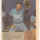 KANSAS CITY ROYALS GEORGE BRETT 1984 WILSON GLOVE AD FROM THE SPORTING NEWS