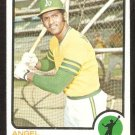 Oakland Athletics Angel Mangual 1973 Topps Baseball Card # 625 nr mt