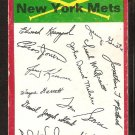 New York Mets Red Team Checklist marked 1974 Topps Baseball Card good