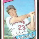 California Angels Tom Donohue 1980 Topps Baseball Card #454 nr mt