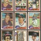 1981 Topps Cleveland Indians Team Lot Joe Charboneau RC Mike Hargrove Toby Harrah