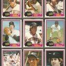 1981 Topps Detroit Tigers Team Lot Alan Trammell Jack Morris Lance Parrish Lou Whitaker Steve Kemp