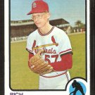St Louis Cardinals Rich Folkers 1973 Topps Baseball Card # 649 nr mt